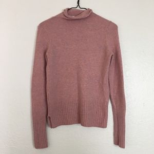 Madewell mock rolled neck sweater pink inland
